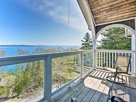 Turret-Style Home W/Deck + Views Of Frenchman Bay! photos Exterior