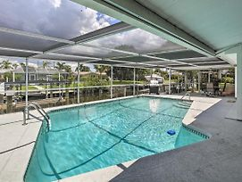 Canalfront Home W/Dock+Pool, 5 Mi To Ft Myers photos Exterior