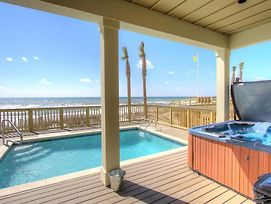Holiday Fin - Heated Pool & Hot Tub! Game Tables! Beachfront!!! photos Exterior