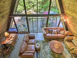 Quiet A-Frame Cabin On Creek With Private Deck! photos Exterior