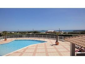 Languedoc Immobilier Appartement Vue Mer Plage Piscine Rochelongue - St152 photos Exterior