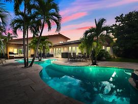 New Listing Luxe Waterfront W Pool & Boat Dock Home photos Exterior