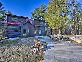 New! Grand Log Cabin W/ Hot Tub, 4 Mi To Whiteface photos Exterior