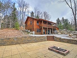 North Conway Log Cabin With Porch, Grill And Fire Pit! photos Exterior