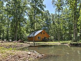 Lyndhurst Log Cabin On Farm W/Pond+Stocked Stream! photos Exterior