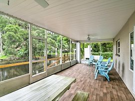 Updated Rustic Yankeetown Home W/Lanai, Canal Dock photos Exterior