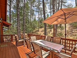 Prescott Cabin W/ Beautiful Forest Views & Deck! photos Exterior