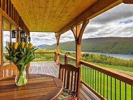 Naples Cabin With Large Wraparound Deck And Lake Views! photos Exterior