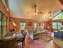 Private Ellijay Cabin With Deck, Fire Pit And Amenities photos Exterior