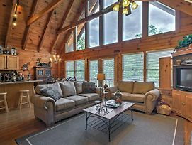 Smoky Mountain Cabin W/ View From Hot Tub & Deck! photos Exterior