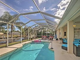 4Br Cape Coral House With Private Pool And Pier! photos Exterior