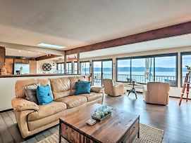 Beachfront Home W/Deck + Stunning Bay Views! photos Exterior