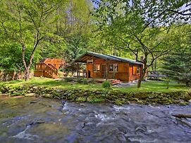 Bryson City Cabin W/ Fire Pit On Coopers Creek! photos Exterior