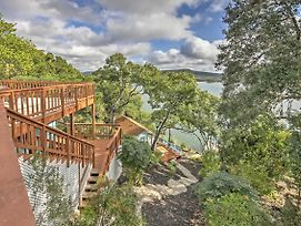 Waterfront Lakehills Home W/ Pvt Dock & Lake Views photos Exterior