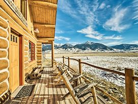 10-Acre Yellowstone Cabin W/Stunning Mtn View photos Exterior