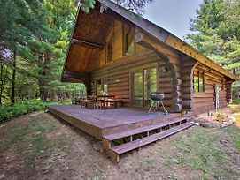 Secluded Log Cabin In Nw Michigan W/Fire Pit & Deck photos Exterior