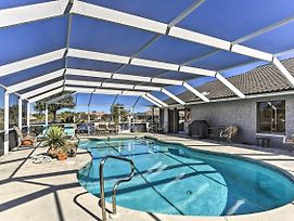 Canalfront Cape Coral Home With Pool And Dock! photos Exterior