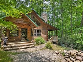 Storybook Bryson City Cabin On Stream - W/Hot Tub! photos Exterior
