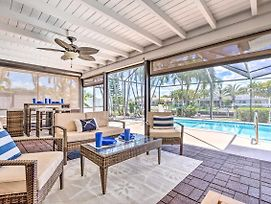 Cape Coral Waterfront Home With Pool And Dock! photos Exterior