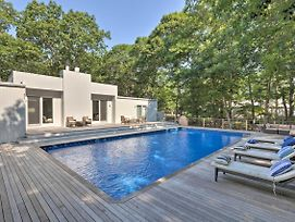 Hamptons Home W/ Heated Pool - Walk To Beach! photos Exterior