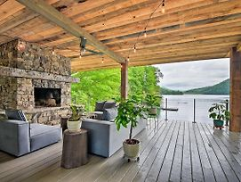 Luxurious Nantahala Lake House W/ Private Dock! photos Exterior