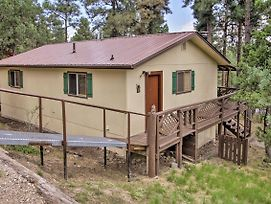 Cozy Ruidoso Ski Cabin W/ Covered Deck & Fireplace photos Exterior