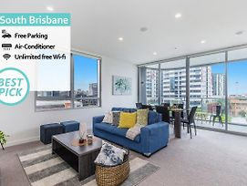 Luxury 2 Bed Apt In South Brisbane Free Parking photos Exterior