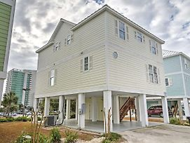Myrtle Beach House W/Balconies - 1 Block To Beach! photos Exterior