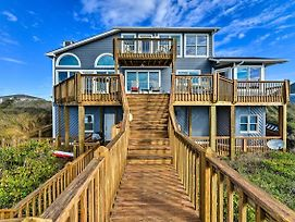 Large Beachfront Home With Boardwalk And Elevator photos Exterior