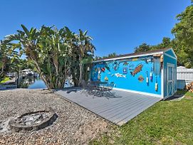Colorful Canalfront Home W/ Boat Dock & Yard! photos Exterior
