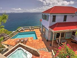 Oceanfront St. Thomas Villa W/Pool,Spa&Bay Views! photos Exterior