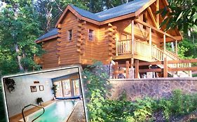 Honeymoon Cabin - Private Swimming Pool In Cabin - Swim N Bear