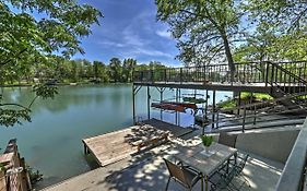 Waterfront 'Guadalupe River Lodge' Home With Dock!