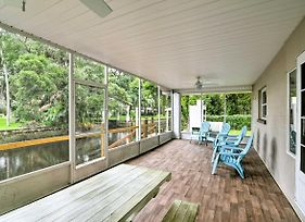 Updated Rustic Yankeetown Home With Lanai, Canal Dock photos Exterior