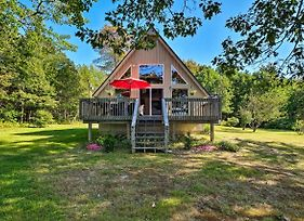 South Thomaston A-Frame Cottage Secluded On Water! photos Exterior