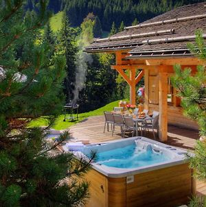 Traditional Luxury Chalet For 8 With Superb Mountain Views Sunny Terrace & Hot Tub photos Exterior