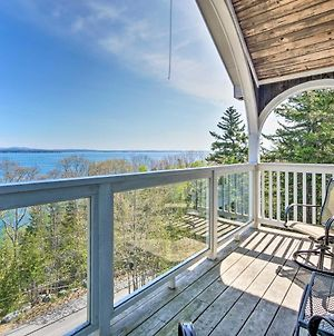 Turret-Style Home With Deck & Views Of Frenchman Bay! photos Exterior