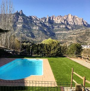 Villa With 3 Bedrooms In Monistrol De Montserrat With Wonderful Mountain View Private Pool Furnished Terrace photos Exterior