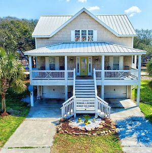1 Block To Beach! Ocean-View Oak Island Estate Home photos Exterior