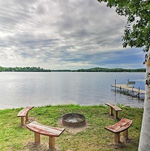 Cozy Lakefront Cabin With Dock, Canoe And 2-Story Deck photos Exterior