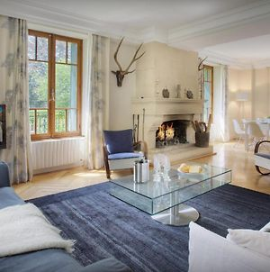 French Alps Manor In Petit Bornand Sleeps 14 With Contemporary Cosy Decor Fireplace Sauna Summer Pool & Games Room photos Exterior