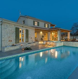 Beautiful Villa With Private Pool And Fenced Garden Near Visnjan photos Exterior