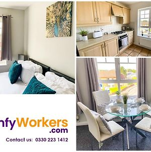 New Contractor Apartment - Free Parking - Central Northampton By Comfy Workers photos Exterior