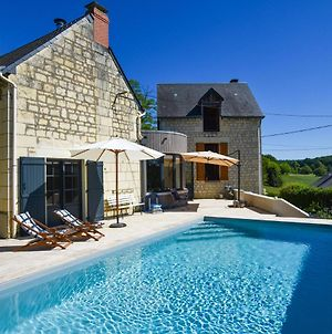 Gorgeous Restored House Near Thizay With Swimming Pool photos Exterior