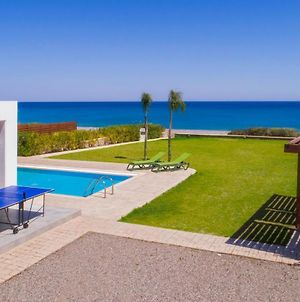 Luxury Rhodes Villa Superior Villa Beach Front Private Pool 3 Bdr Lahania photos Exterior