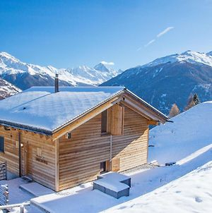 Chalet With Spectacular View Of Mountains In Heremence photos Exterior