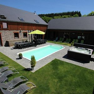 Beautiful Villa With Heated Outdoor Pool, Sauna And Jacuzzi At A Large Forest photos Exterior