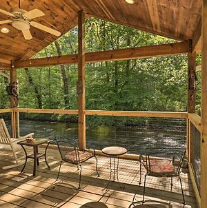 Charming Waynesville Cottage With Deck On Creek photos Exterior