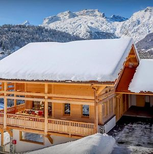 Manigod Contemporary Chalet For 10 In Peaceful Area With Cosy Fireplace Valley & Mountain Views photos Exterior