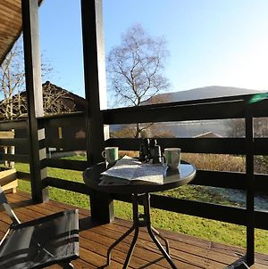 Cosy Modern Nordic Lodge W Loch View And Log Burner photos Exterior